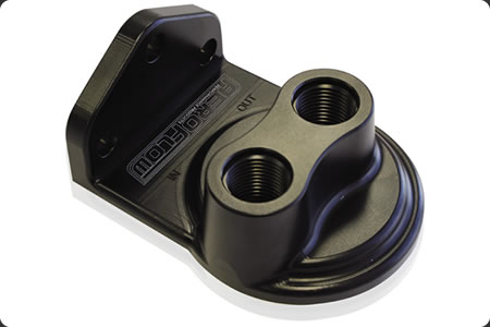 Billet Remote Filter Head - Top Entry